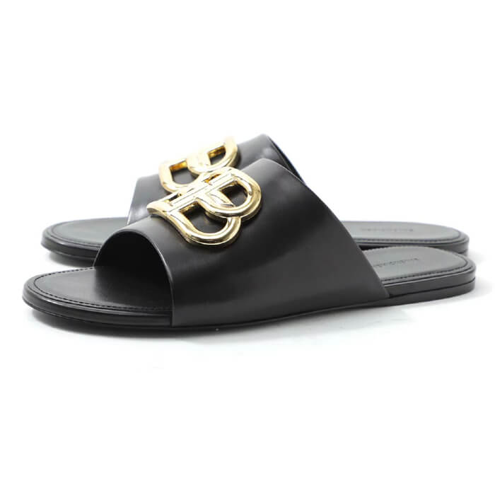 Dép lê Balenciaga cho nữ - Oval BB Mule Sandal