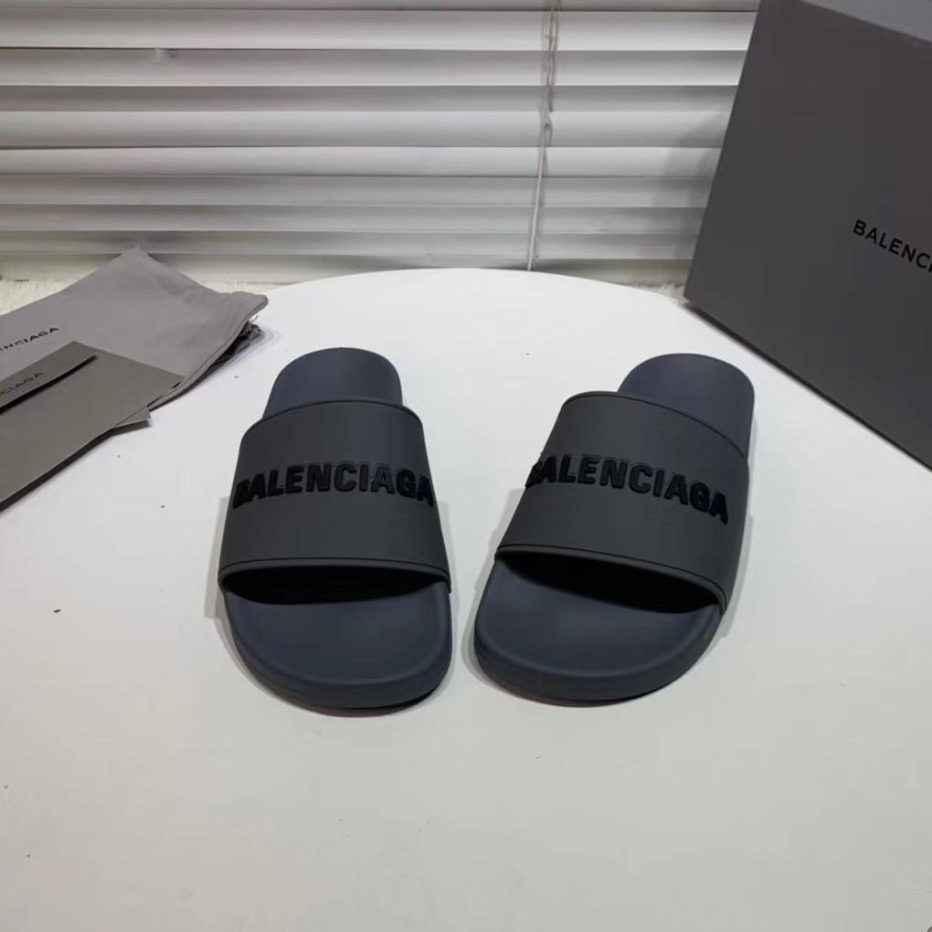 Dép Balenciaga nam siêu cấp màu xám chữ đen DBL04