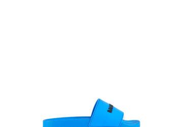 Dép Balenciaga nam siêu cấp màu xanh chữ đen DBL05