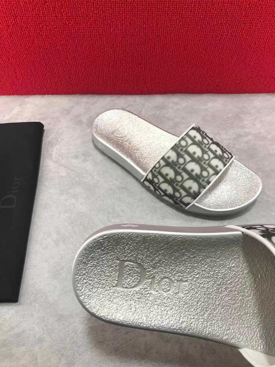 Dép Dior nam siêu cấp đế bạc quai hoạ tiết logo DDR06