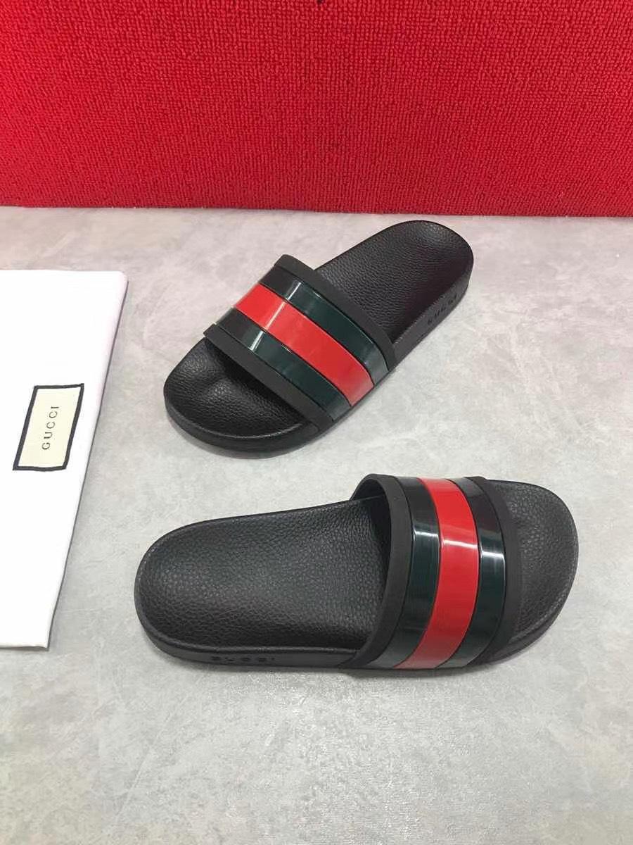 Dép Gucci nam siêu cấp quai ngang Treck Slide Black DGC10