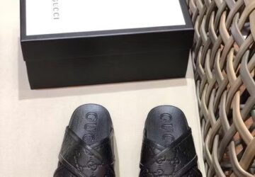 Dép nam Gucci siêu cấp quai chéo họa tiết logo chìm DGC49