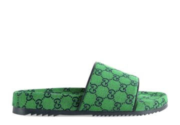 Dép nam Gucci like au quai ngang họa tiết logo xanh lá DGC32