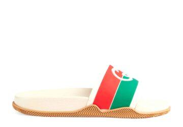 Dép nam Gucci like au quai ngang xanh đỏ họa tiết logo đối DGC26