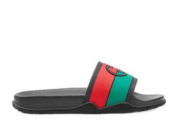 Dép nam Gucci like au quai ngang xanh đỏ họa tiết logo đối DGC27