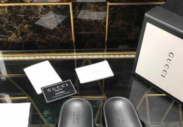 Dép nam Gucci siêu cấp xỏ ngón họa tiết logo dập DGC41