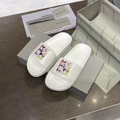 Dép nam Balenciaga siêu cấp họa tiết động vật màu trắng DBL11