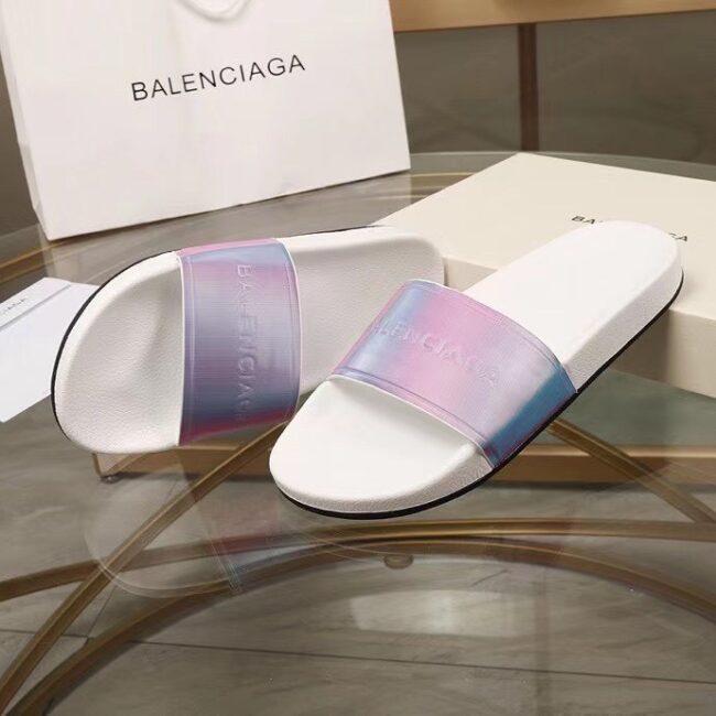 Dép nam Balenciaga siêu cấp họa tiết quai hồng xanh DBL19