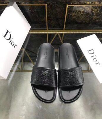 Dép nam Dior siêu cấp họa tiết khóa logo nhỏ DDR16