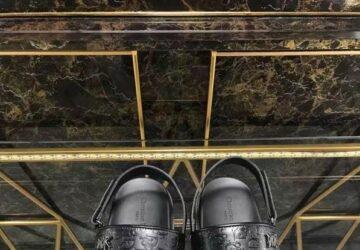 Dép nam Dior sandal siêu cấp họa tiết logo nhỏ DDR38