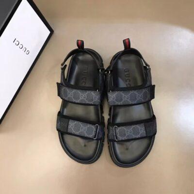 Dép nam Gucci siêu cấp sandal quai họa tiết logo DGC61